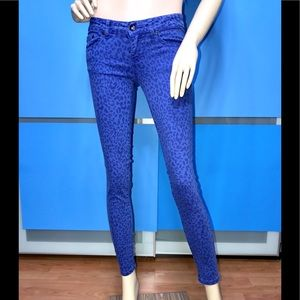 SPECIAL A • Royal Blue Leopard Skinny Jeans / (1)